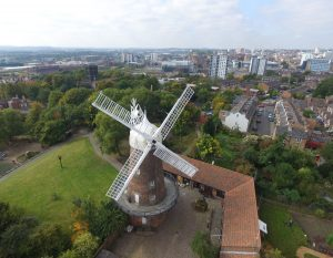 Aerial view of Greens Windmill and Science Centre