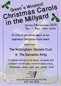 Carols in the millyard at Green's Windmill