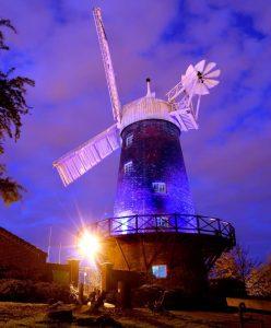 Green's Windmill at light night