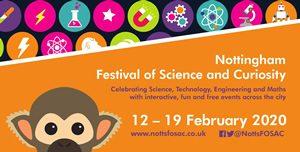 Festival of science February 2020 banner