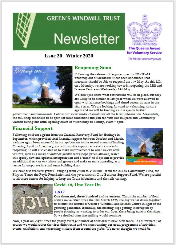 Issue 30, winter 2020 newsletter